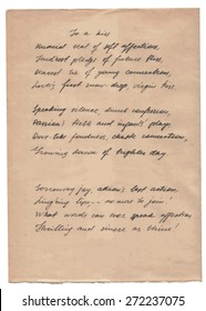 Old Paper With Hand-written Text Background