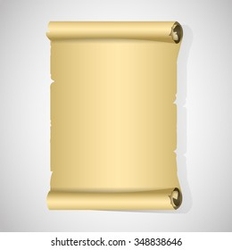 Old Paper Roll blank and isolated on white