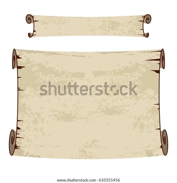 Old Paper Scroll Vintage Background Banner Stock Vector