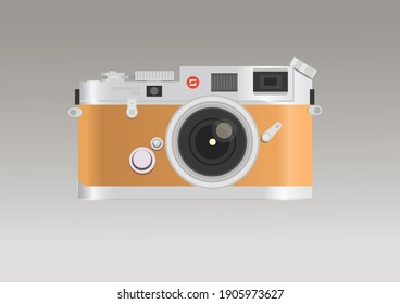 old photo camera 3d. Vector illustration.