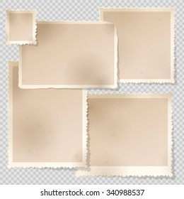 Old Photo Frame template with sharp transparent shadow. Photo frame templates with different aspect ratio.