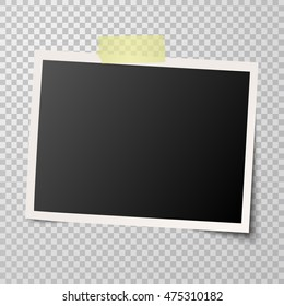 old photo frame with transparency showing shadow