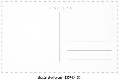 Old postcard template. Post card frame design.