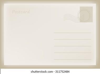 Alte Postkarte.Vektorvorlage.