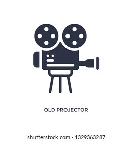old projector icon. Simple element illustration from cinema concept. old projector editable symbol design on white background. Can be use for web and mobile.