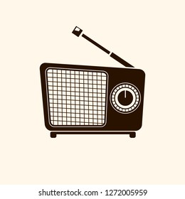 Old radio. Illustration of an old radio of the last century.Vector