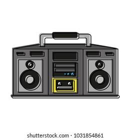 Old radio stereo