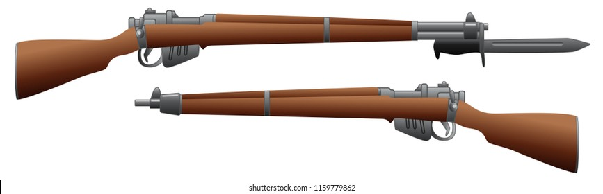 Old rifle gun graphic vector