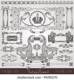 old royal label banner element