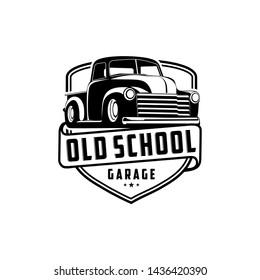 Old school garage truck vector