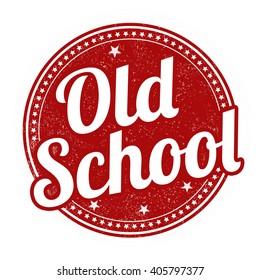 Old school grunge rubber stamp on white background, vector illustration