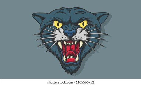 Old School Tattoo Panther Images Stock Photos Vectors Shutterstock