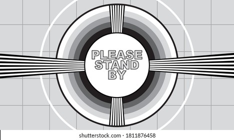 Old school test pattern graphic