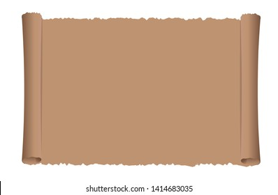 Old scroll paper vector illustration