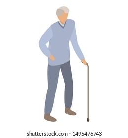 Old senior man icon. Isometric of old senior man vector icon for web design isolated on white background