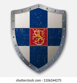 FINLAND FLAG GRILLE BADGE CHROME EMBLEM NORDIC HELSINKI FINNISH