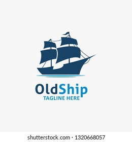 Old ship logo design