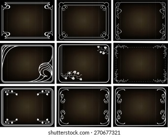 Old Silent Movie Frames In Art Nouveau Style