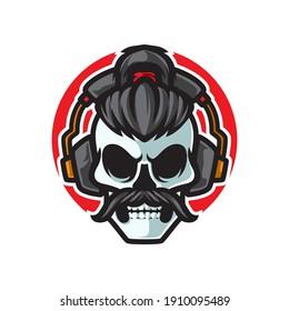 Old Skull Music Headphone Logo