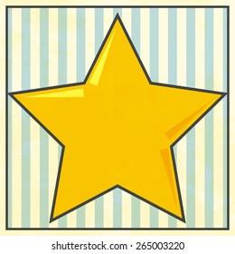 old star background, illustration in vector format