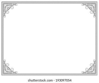 Old style black decorative frame