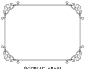 Old style black decorative frame, very easy to adjust the size