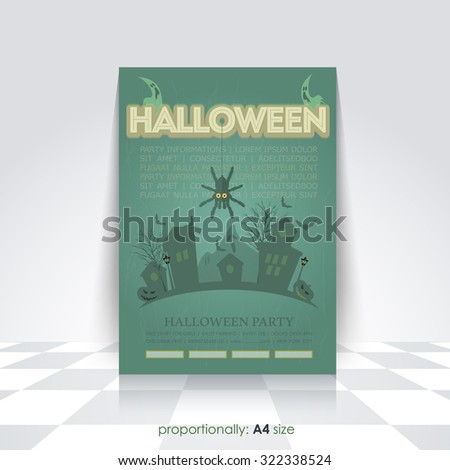 old style halloween flyer a 4 poster stock vector royalty free