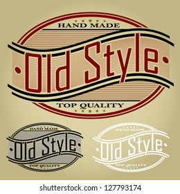 Old Style Retro Seal / Label