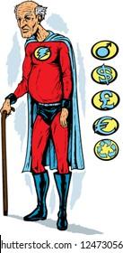 Old superhero