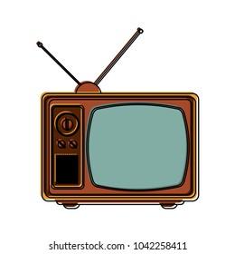 Old television symbol
