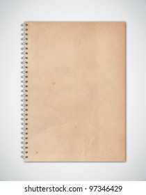 Old Texture Notebook Cover Vector