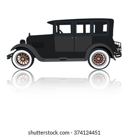 Old timer car silhouette