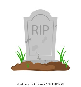 Old tombstone vector design illustration isolated on white background
