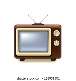 Old tv icon. Vector