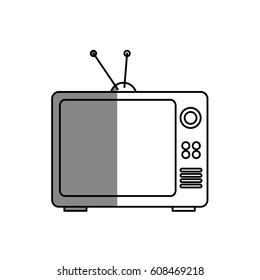 old tv isolated icon