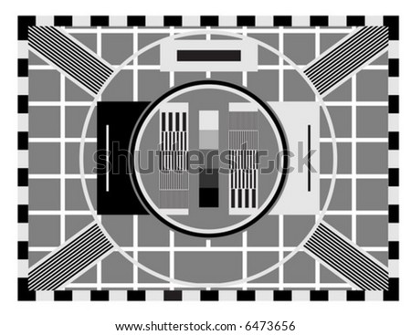 Old TV Test Screen Stock Vector Royalty Free 40 Shutterstock Enchanting Old Tv Test Pattern