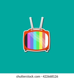 Old tv vector background