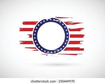 old us history flag illustration design over a white background
