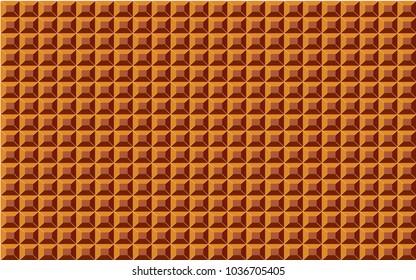 Old video game orange metal box tiles. retro style Background.