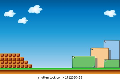 Old video game. retro style Background
