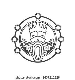 Old Viking logo design template