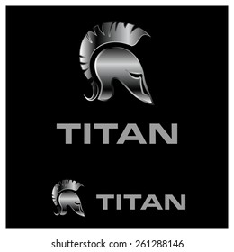 Old Vintage Antiques Helmet vector logo design template. Historical Sparta | Titan concept icon. Antique Rome Emblem.