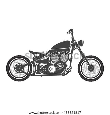 Old vintage bobber bike