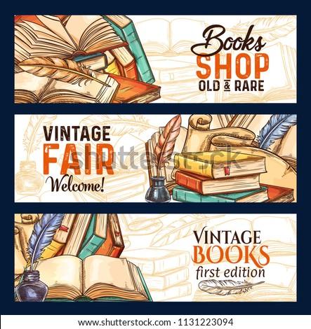 Old vintage books fair