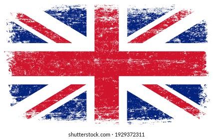 Old vintage flag of United Kingdom.