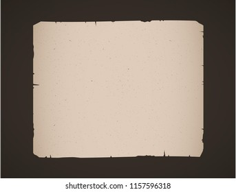 old vintage paper sheet isolated, vector background.