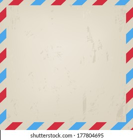 Old vintage post blank grungy background vector