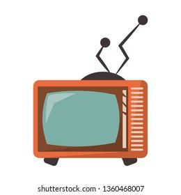 Old vintage television symbol