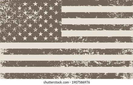 Old vintage United States flag.