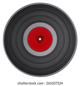 Old vinyl record, vector